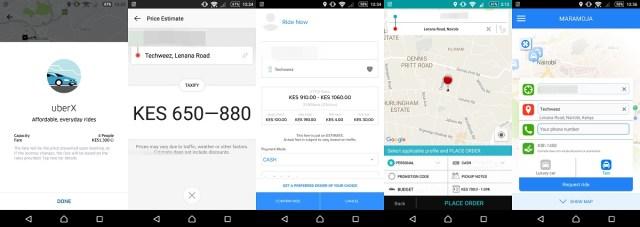 Taxi prices kenya