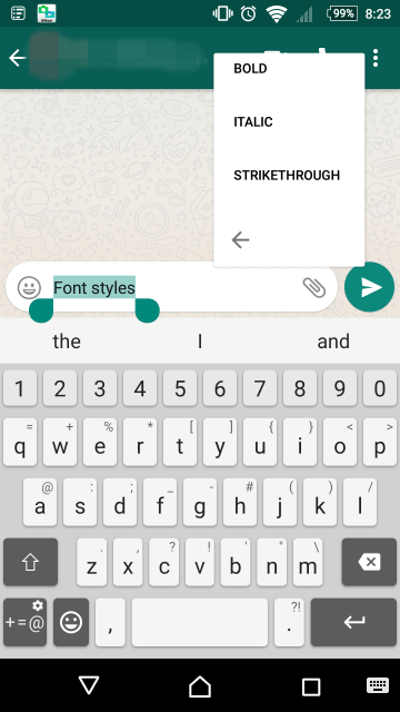 whatsapp translate formatting features