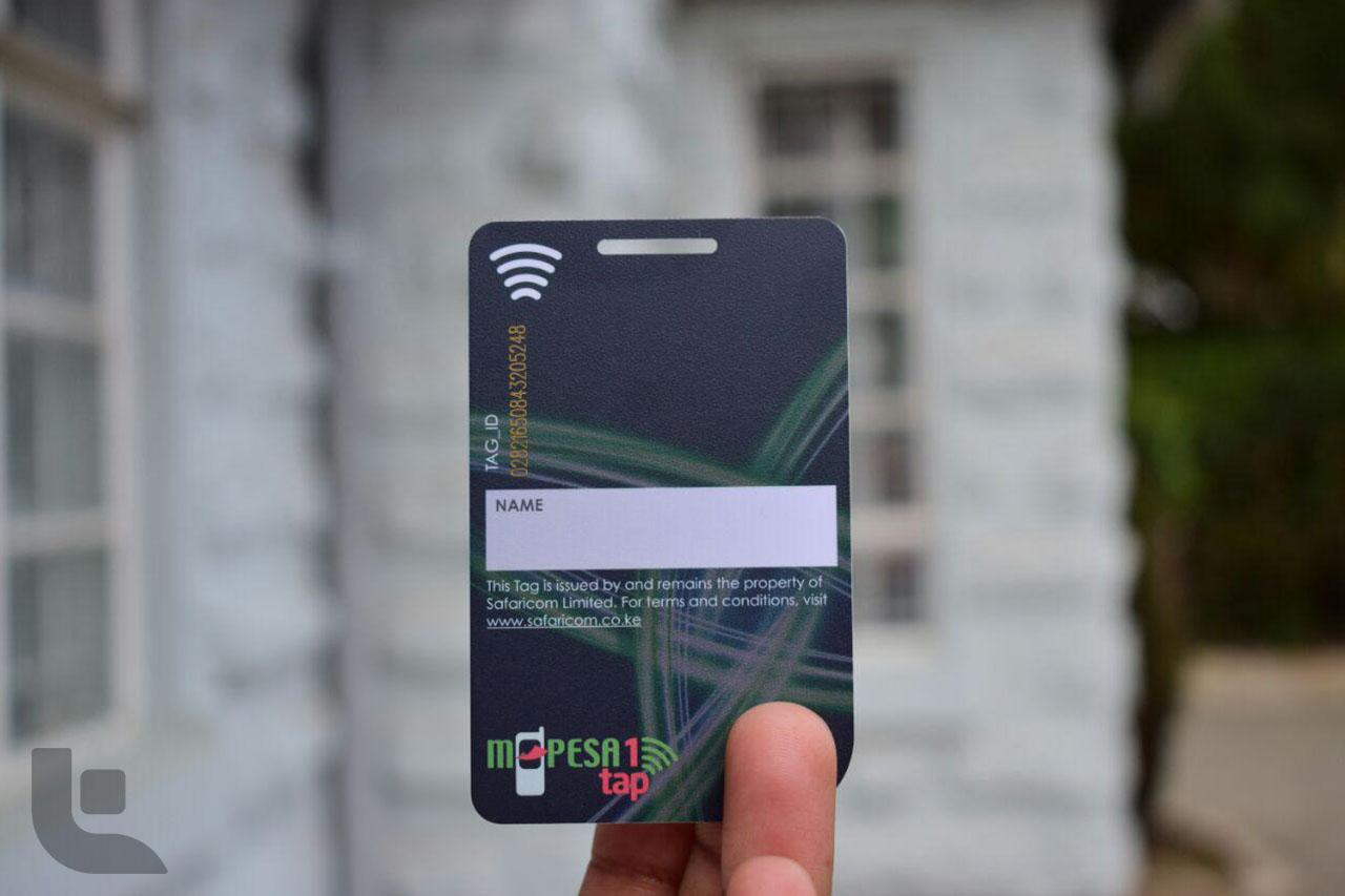 M-Pesa 1 Tap Card back