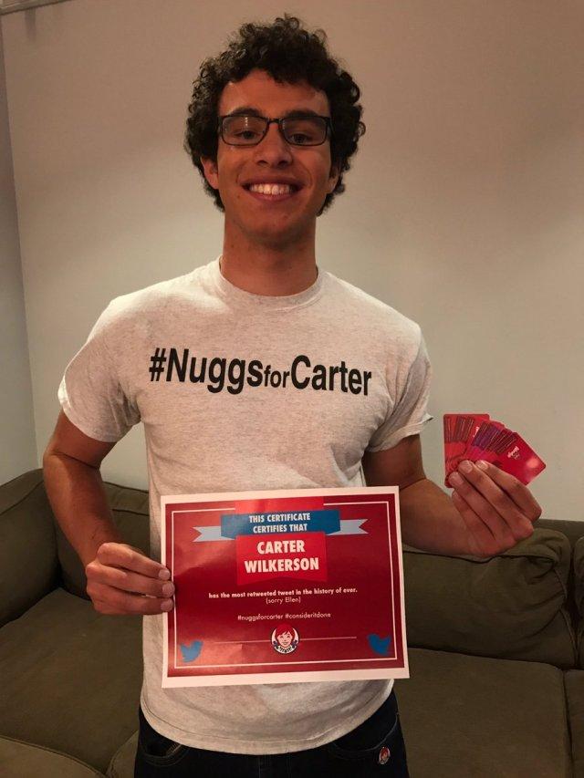 nuggs for carter most retweeted tweet