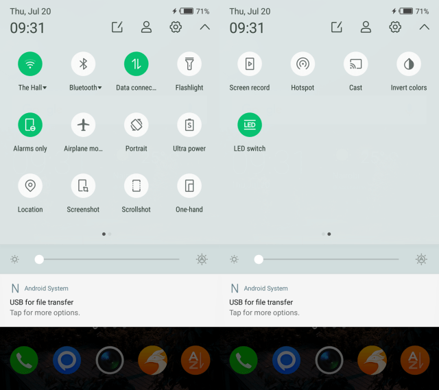 Note 4 Notification Shade