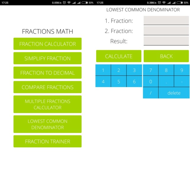 Fractions pro