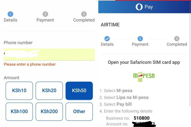 Opay Airtime Purchase