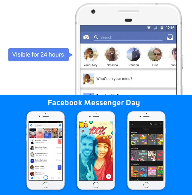 Facebook Stories Messenger Day
