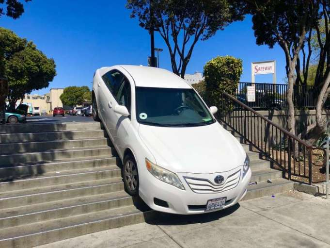 Uber Driver Stairs