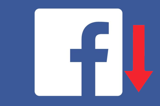 facebook page engagement drops