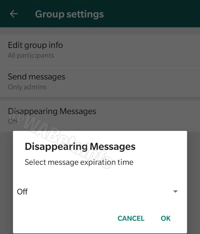WhatsApp could have disappearing messages in the future