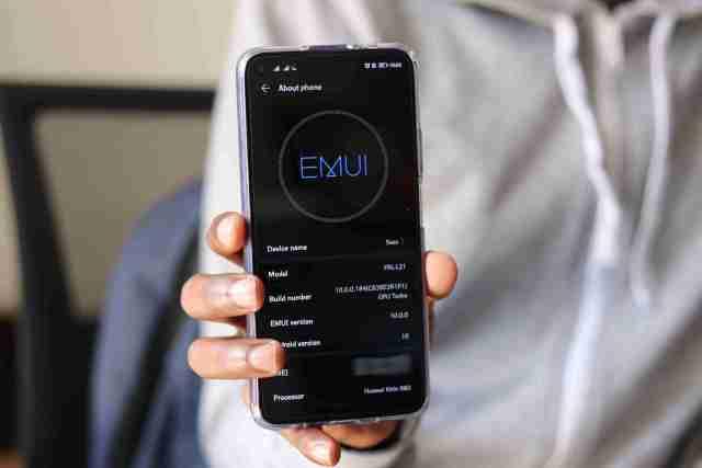EMUI 10 Android 10 Running on Huawei Nova 5T