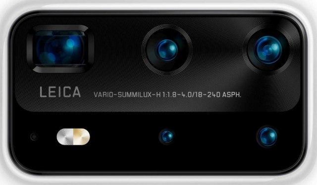 Huawei P40 camera layout