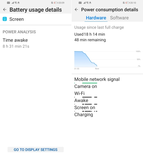 Huawei Y6s Battery Life 2