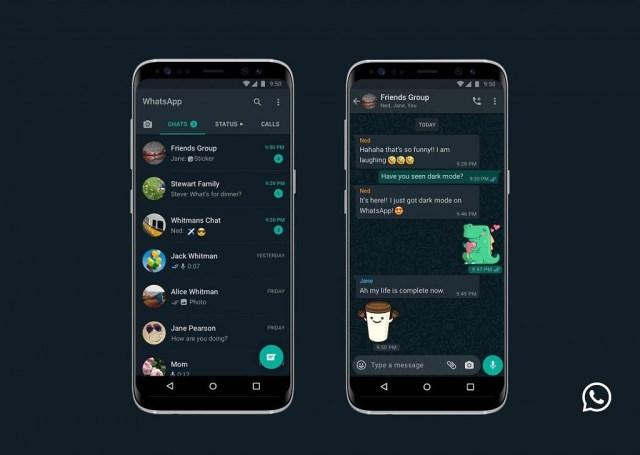 WhatsApp dark mode Android
