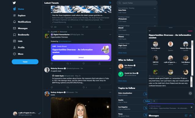Twitter Spaces Web Platform