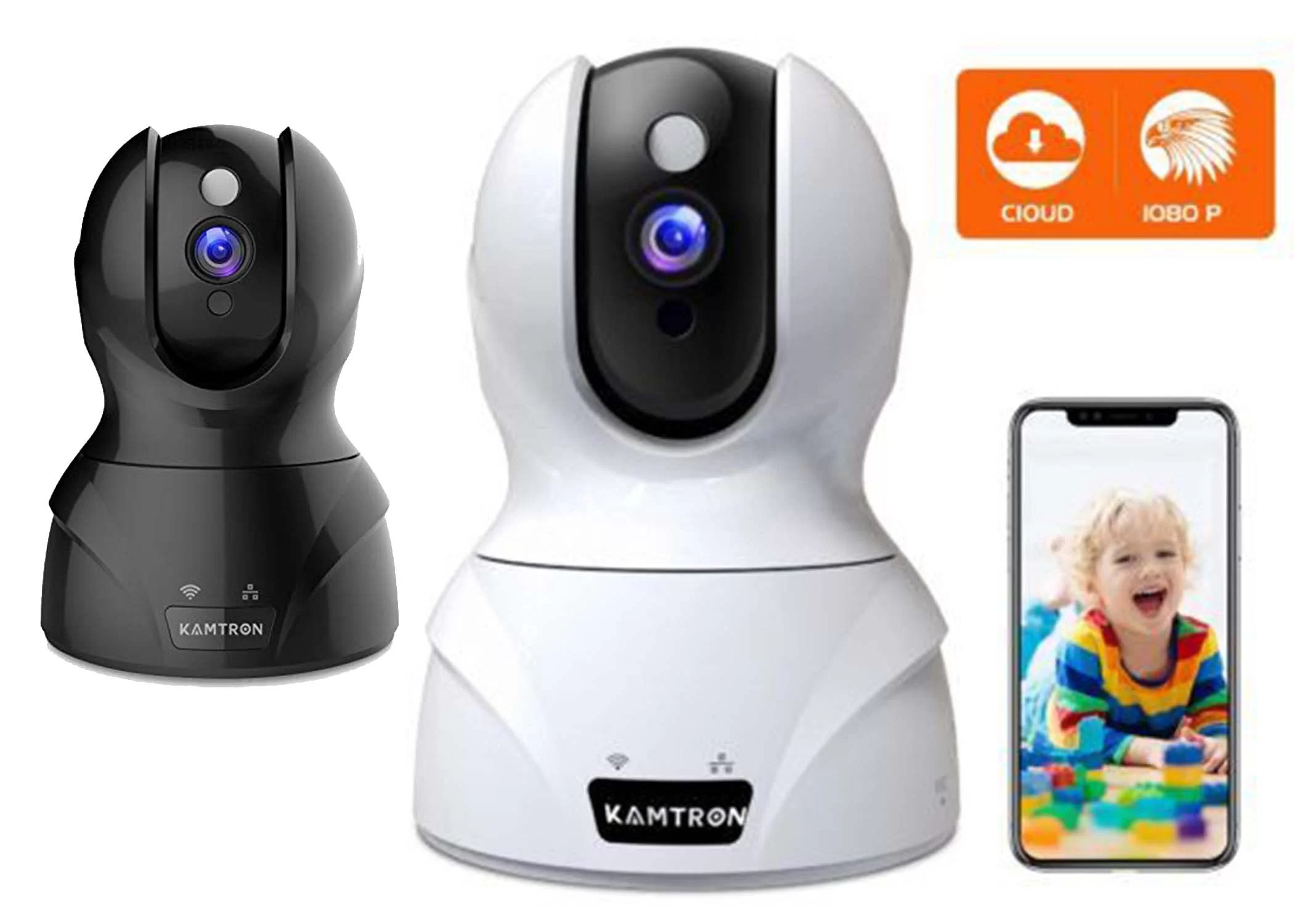 KAMTRON HD Home Wireless Baby & Pet WiFi Security Camera