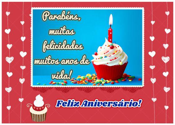 Parabéns, muitas felicidades muitos anos de vida!