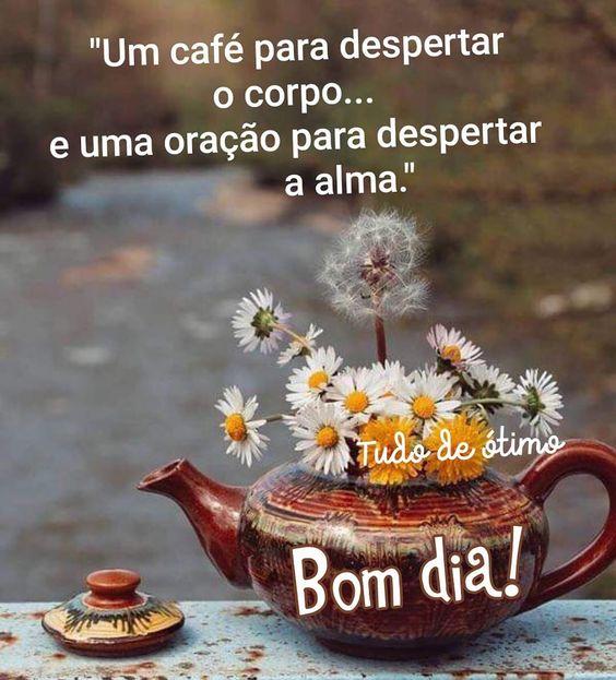 Um café para despertar o corpo e uma oração para desperta a alma