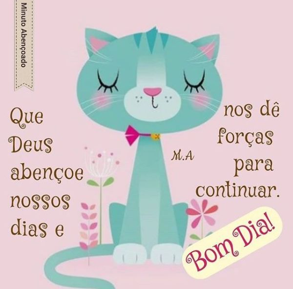 Imagens fofas de Bom dia para Whatsapp gato lindo