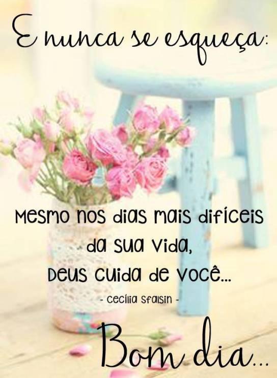 Deus sempre está com você bom dia!