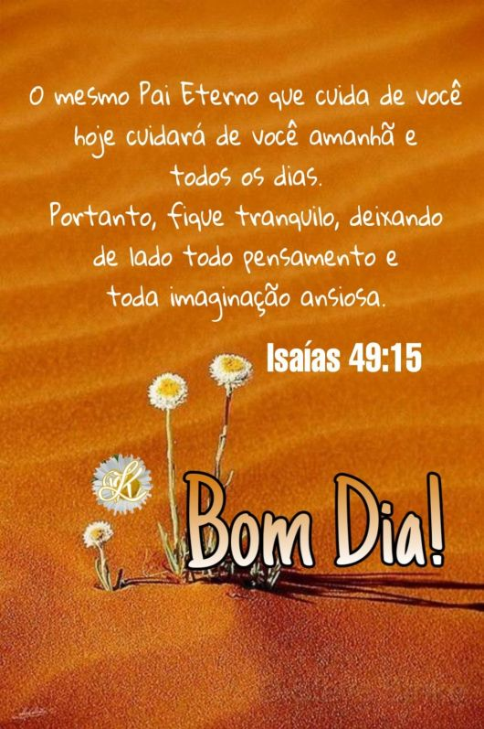 O Pai Eterno cuida de você!