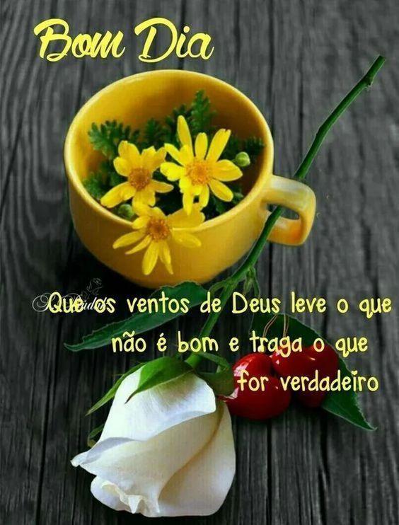 Bom dia com flores e café