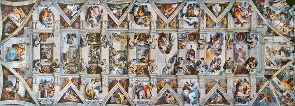 O teto obra-prima de Michelangelo