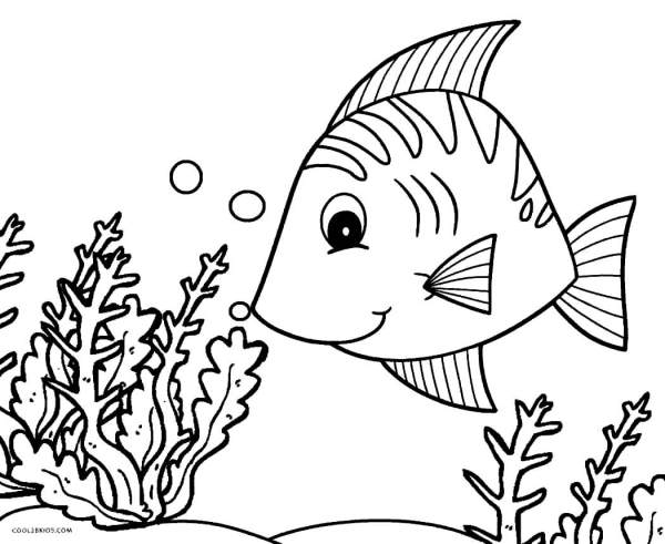 Desenho de peixe do mar.