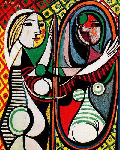 Mulher no espelho picasso