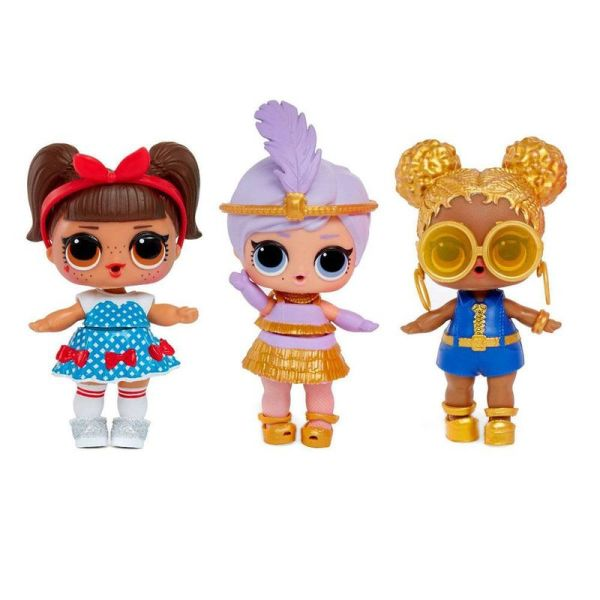 Trio bonecas da lol