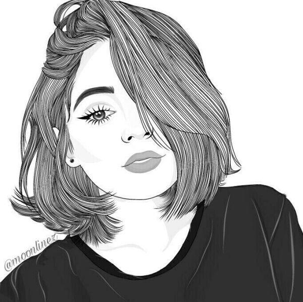 Lindo desenho tumblr de garota