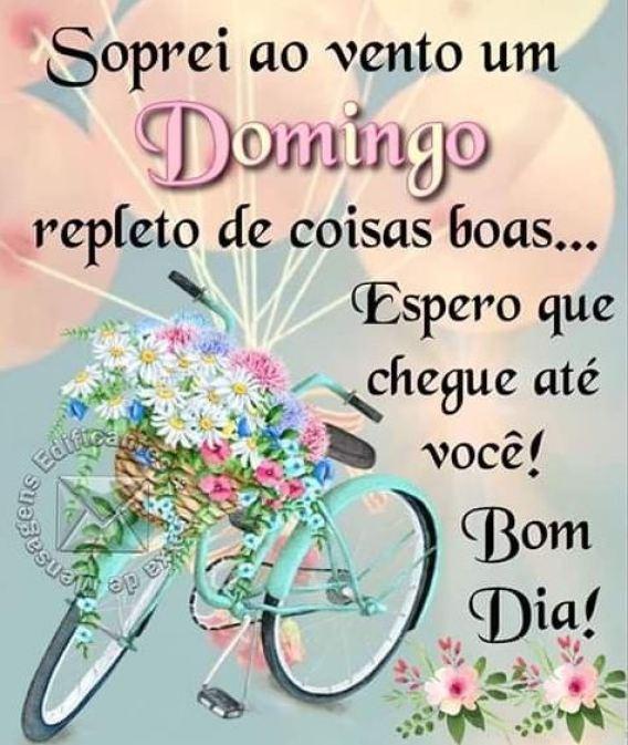 Bom dia domingo de benções e vitórias