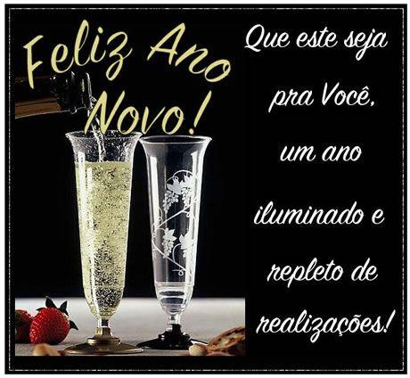 Feliz ano novo iluminado