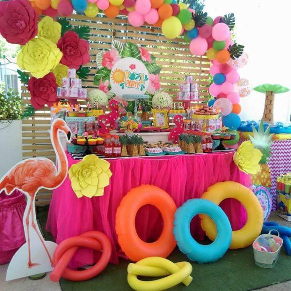Pool party decoração