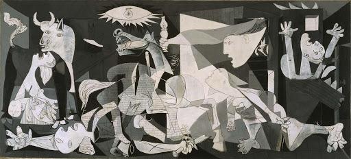 Pintura Guernica feita por Picasso.