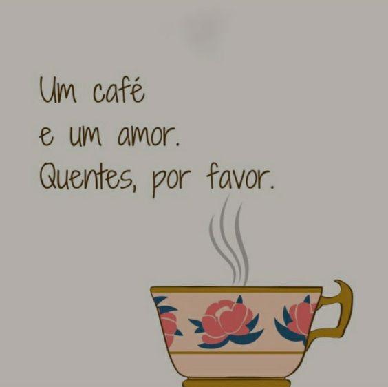 Bom dia com um cafezinho.