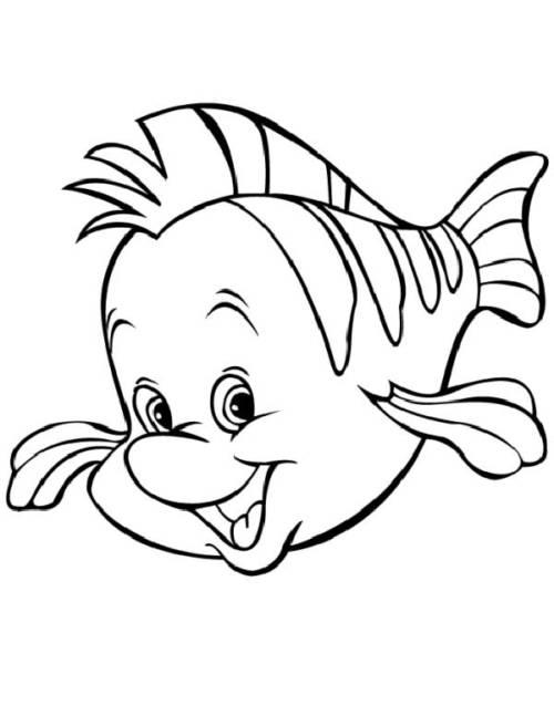 linguado peixinho para colorir.