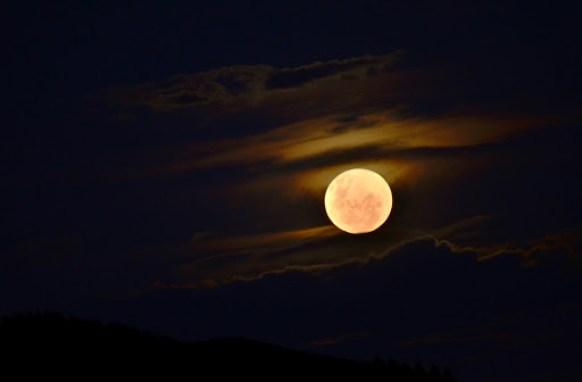a noite é de lua cheia