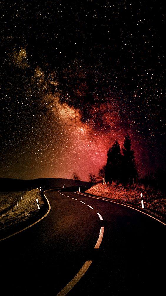 papel de parede, estrada escura