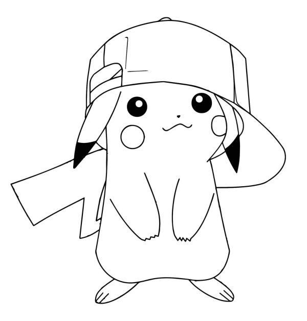 Desenho muito fofinho do pikachu.