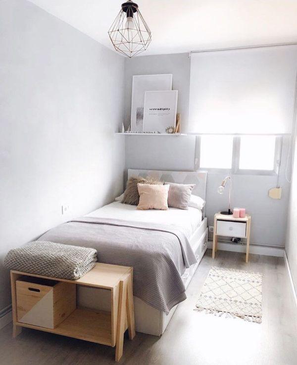 Decoração linda de quarto.