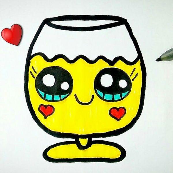 Um drink fofo para desenhar.