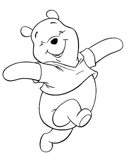 Desenho do ursinho puff para colorir.