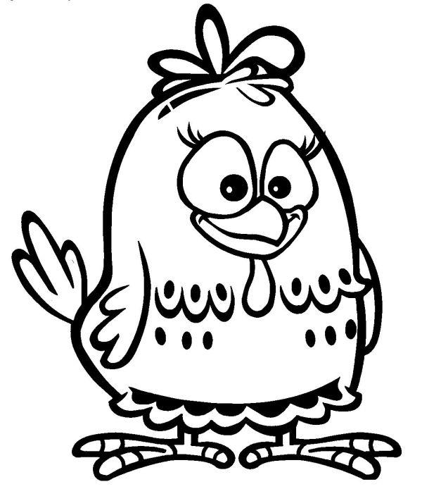 Desenho para colorir da galinha pitadinha