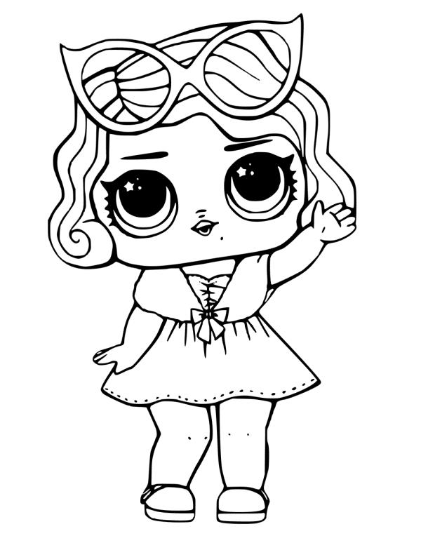 Boneca lol em desenho para imprimir e colorir