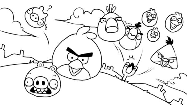 Desenhos para as crianças se divertir pintando