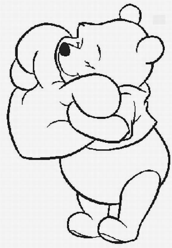 Desenho do ursinho poof paracolorir