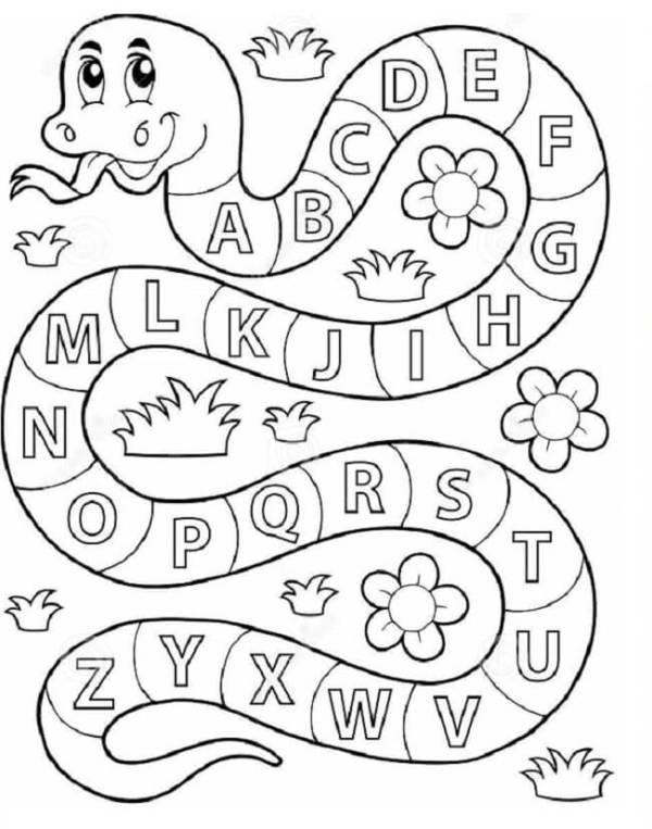 Desenho para colorir pedagógico