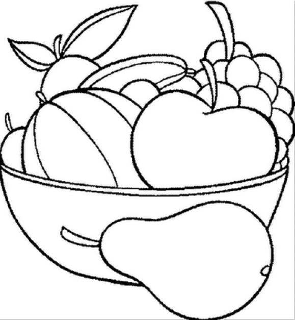 Frutinha para baixar e colorir