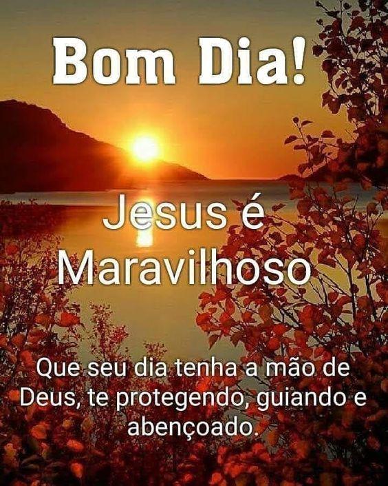bom dia com Jesus maravilhoso