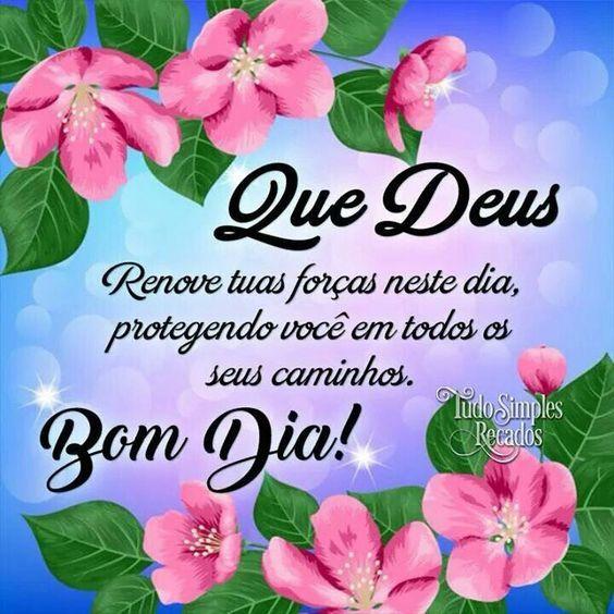 Bom dia Deus proteja você