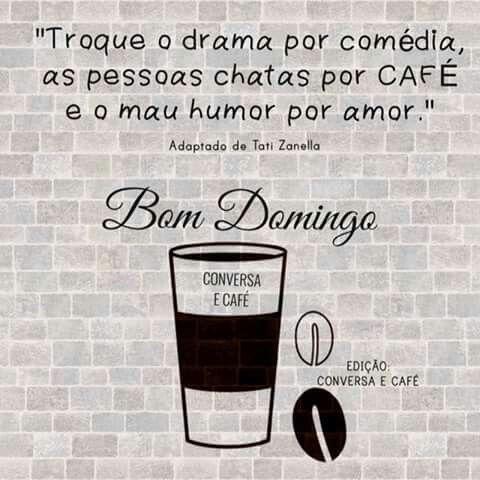 Bom domingo com café