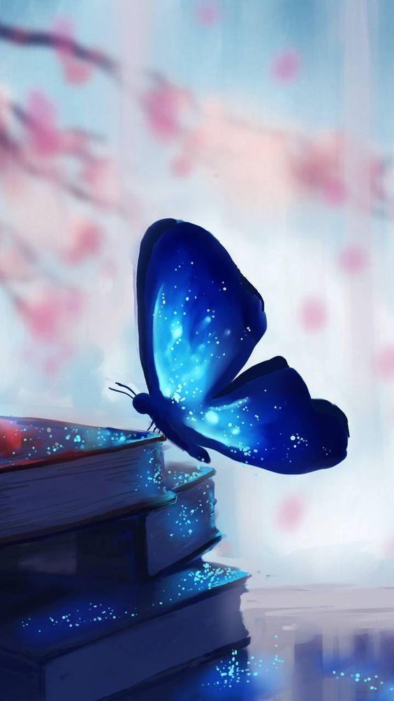Papel de parede borboeta azul